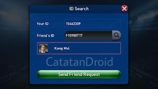 Cara Menambahkan Teman di PESCM Melalui Pencarian ID