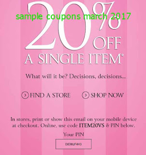 Victoria's Secret coupons march 2017