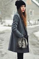 Palton cu maneci lungi si nasturi in fata • Geci si Paltoane