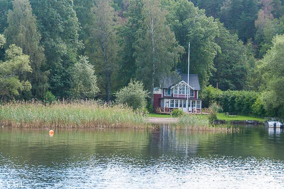Estocolmo. Zona residencial en lago Malaren