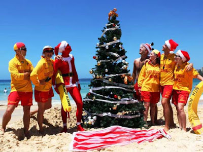Christmas in Bondi beach