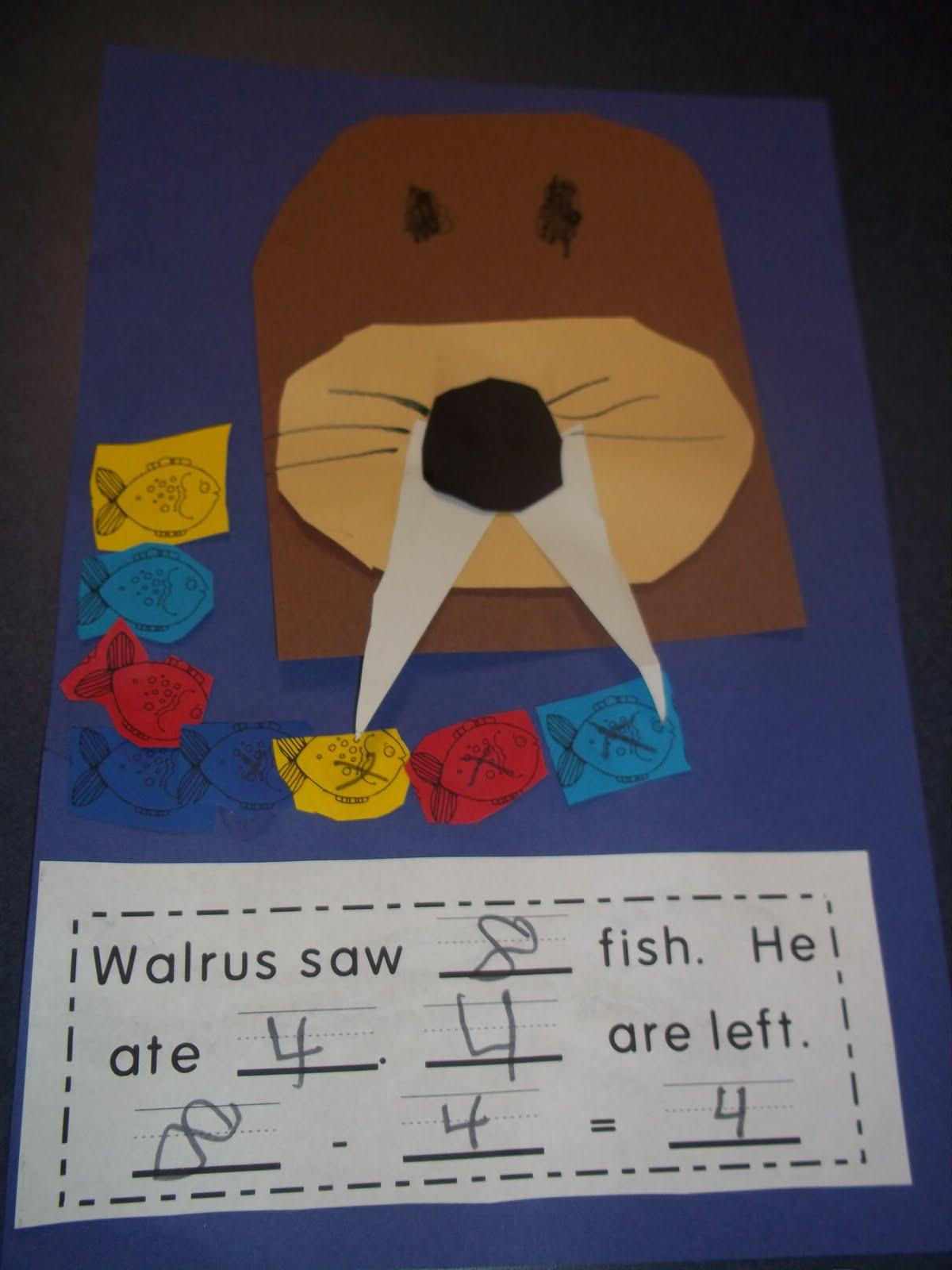 Mrs Wood S Kindergarten Class Walrus Subtraction