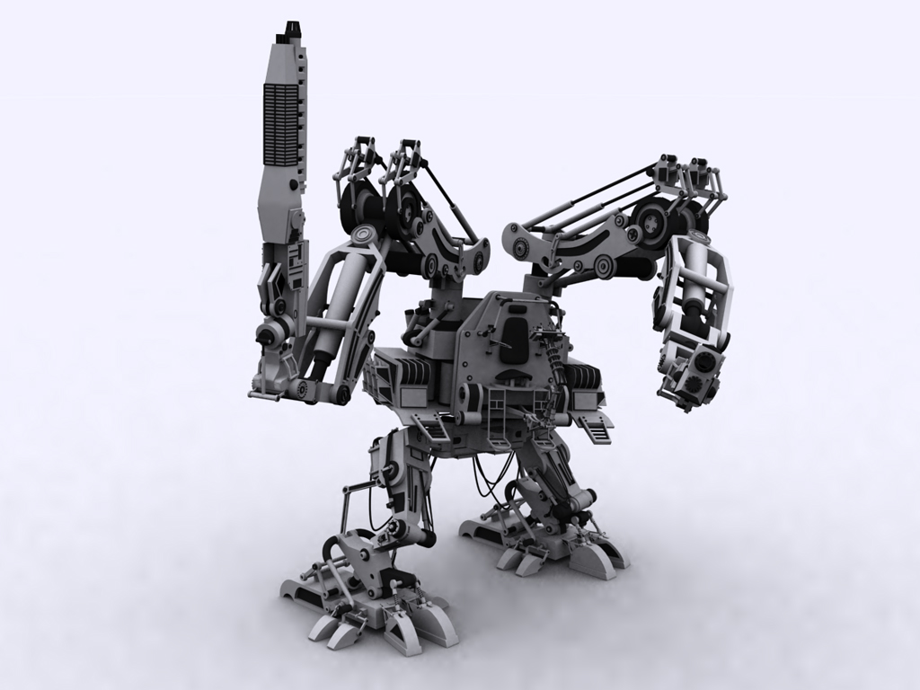 3D WALLPAPERs PACK-1(Robots)