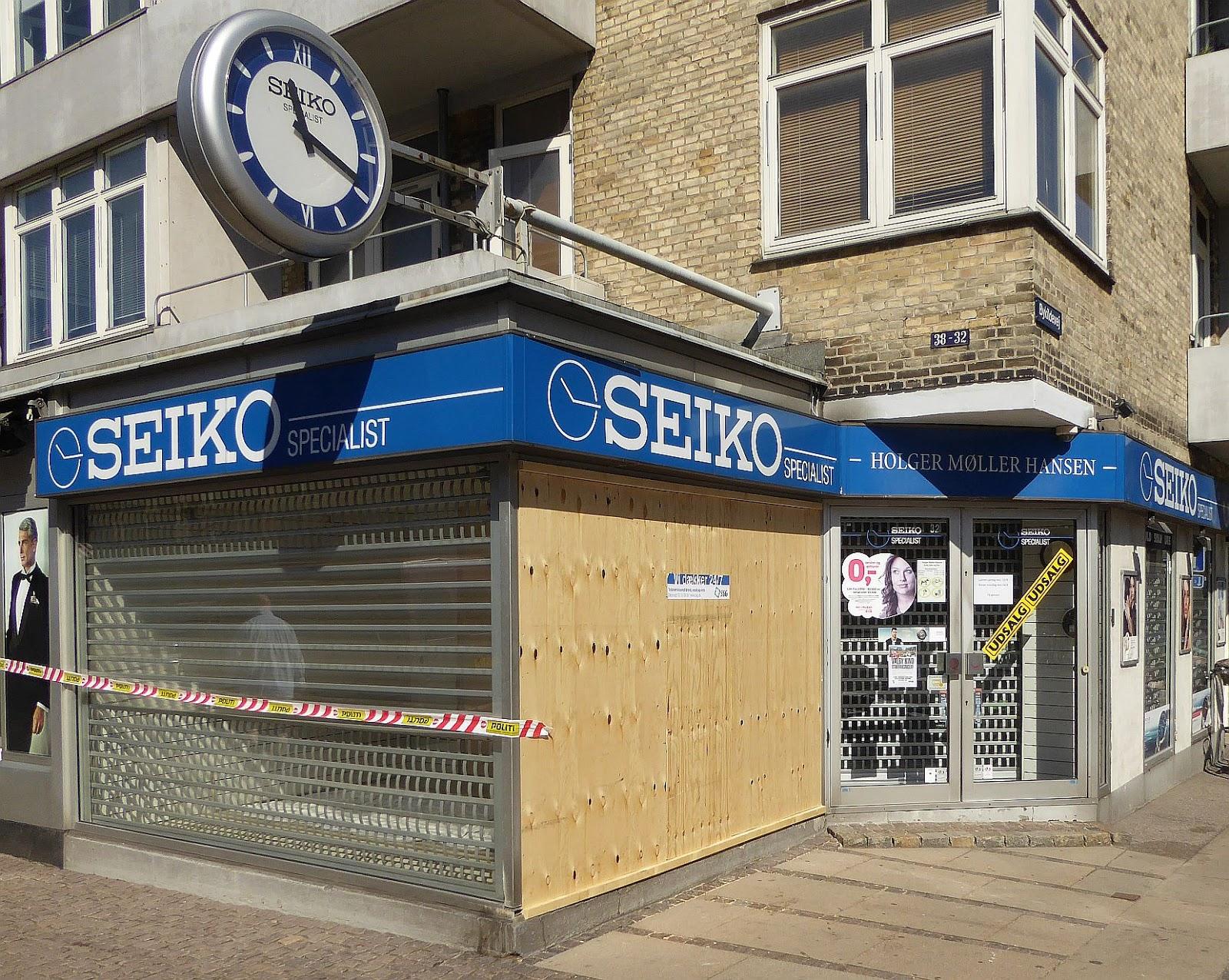 Seiko ramt af rambukindbrud | Valby og København, før og nu