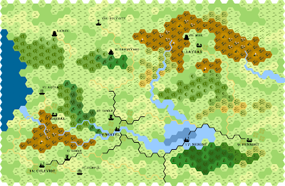 Hex-Map of the Elven-King's Protectorate