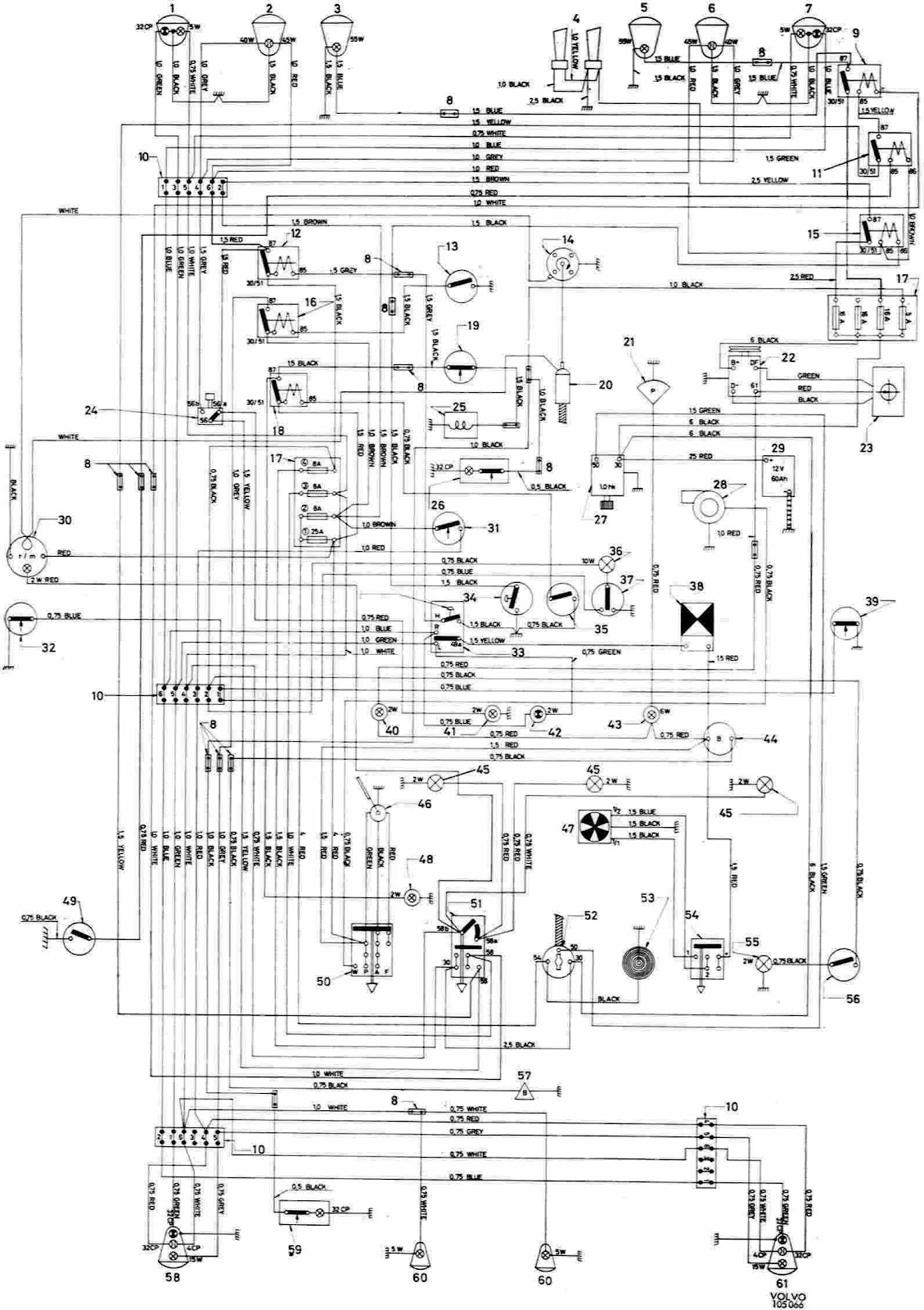 Volvo 123 GT Complete Wiring Diagram | All about Wiring Diagrams