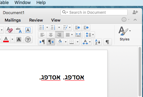 Word for mac hebrew support free