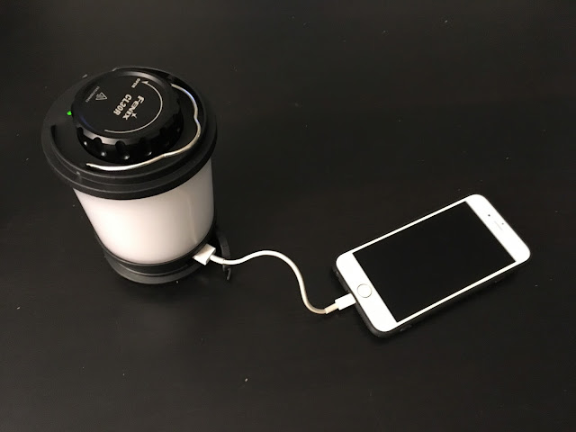 Fenix CL30R Camping Lantern charging Iphone