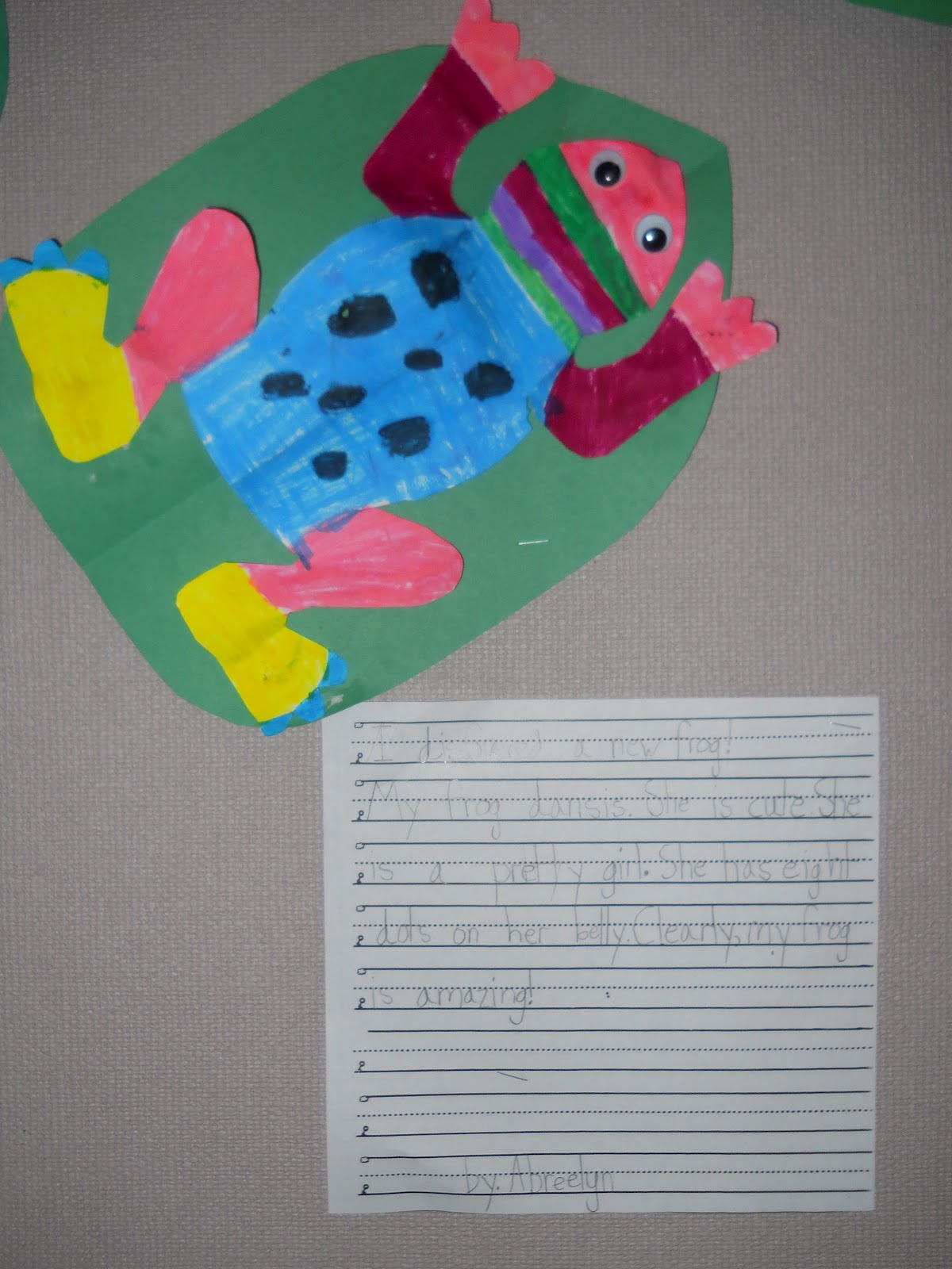 Mrs T S First Grade Class Frog And Toad All Year