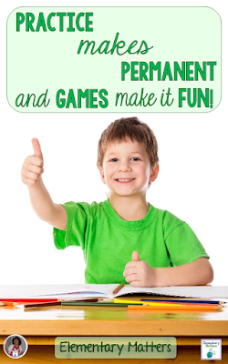 Practice Makes Permanent and Games Make it Fun! Sometimes kids just need to drill something until they've got it. This blog post describes a fun game that makes practice more fun! (Plus a freebie!)
