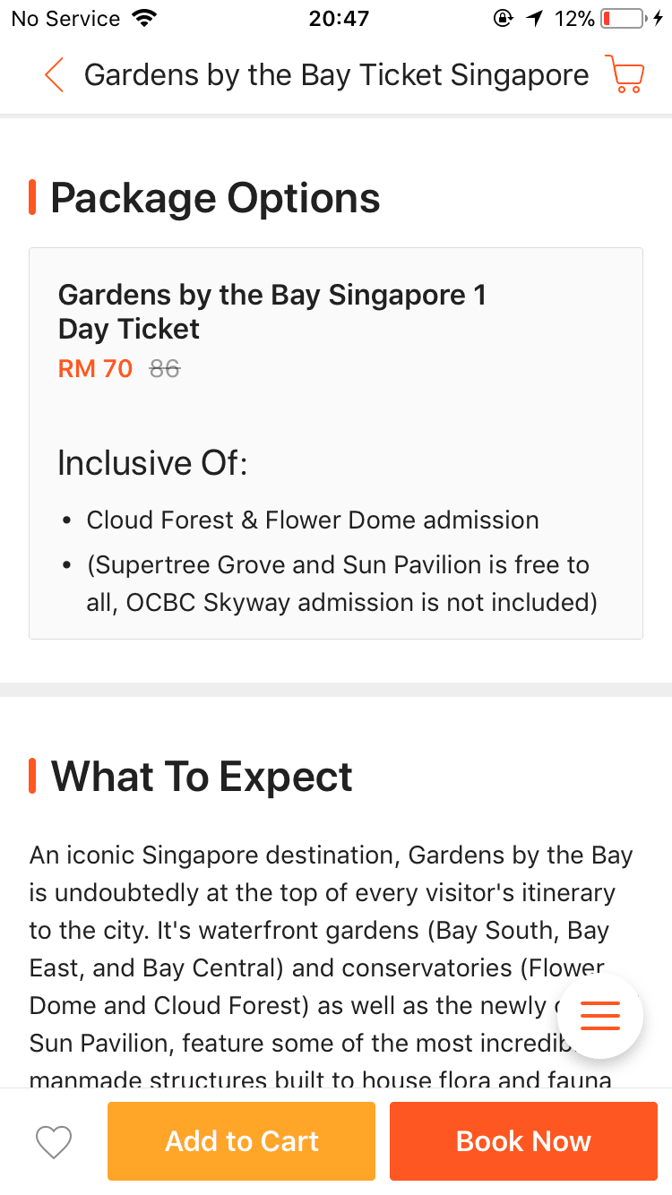 CHEAP GARDEN BY THE BAY ENTRANCE TICKET WITH KLOOK COM NADIA