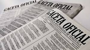 Véase Gaceta Oficial N° 41.411 04 de junio de 2018