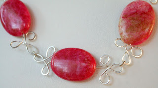 Candy necklace (Jasper, Sterling Silver, Wire work) :: All Pretty Things