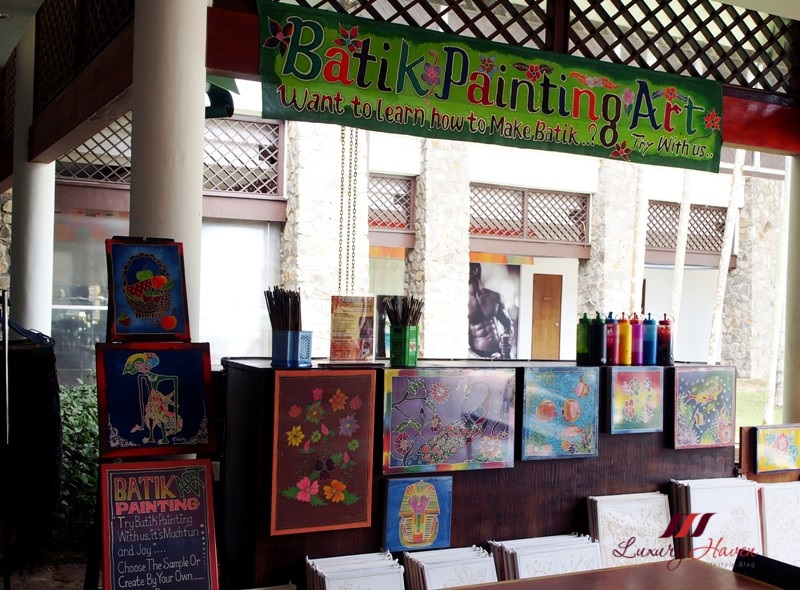 bintan lagoon resort leisure center batik painting art
