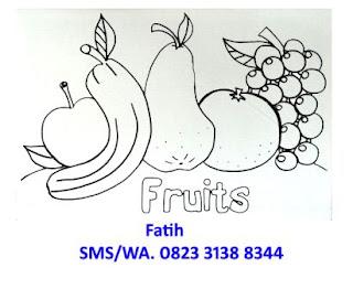 melukis kanvas mewarnai buah