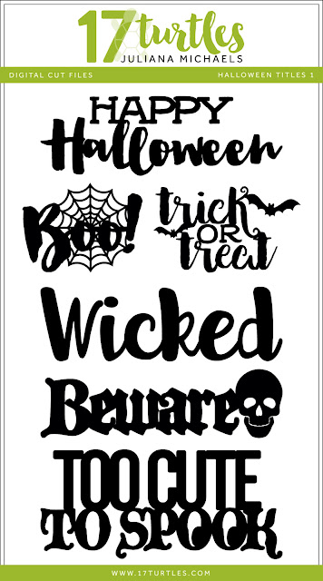 Halloween Titles Free Digital Cut File by Juliana Michaels 17turtles