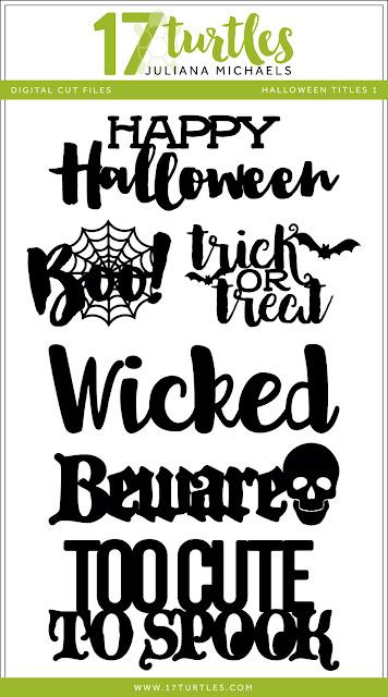 Halloween Titles Free Digital Cut File by Juliana Michaels 17turtles