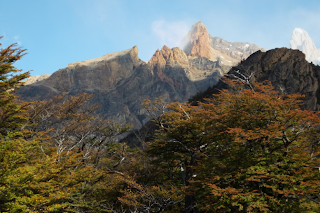 El Chalten walking trail at autumn