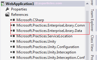 Microsoft practices enterprise libray dll reference