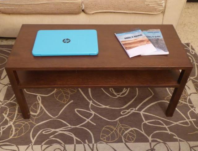 tavolino in legno opera di falegname
