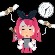 ソーシャルゲーム疲れのイラスト(時間とお金)