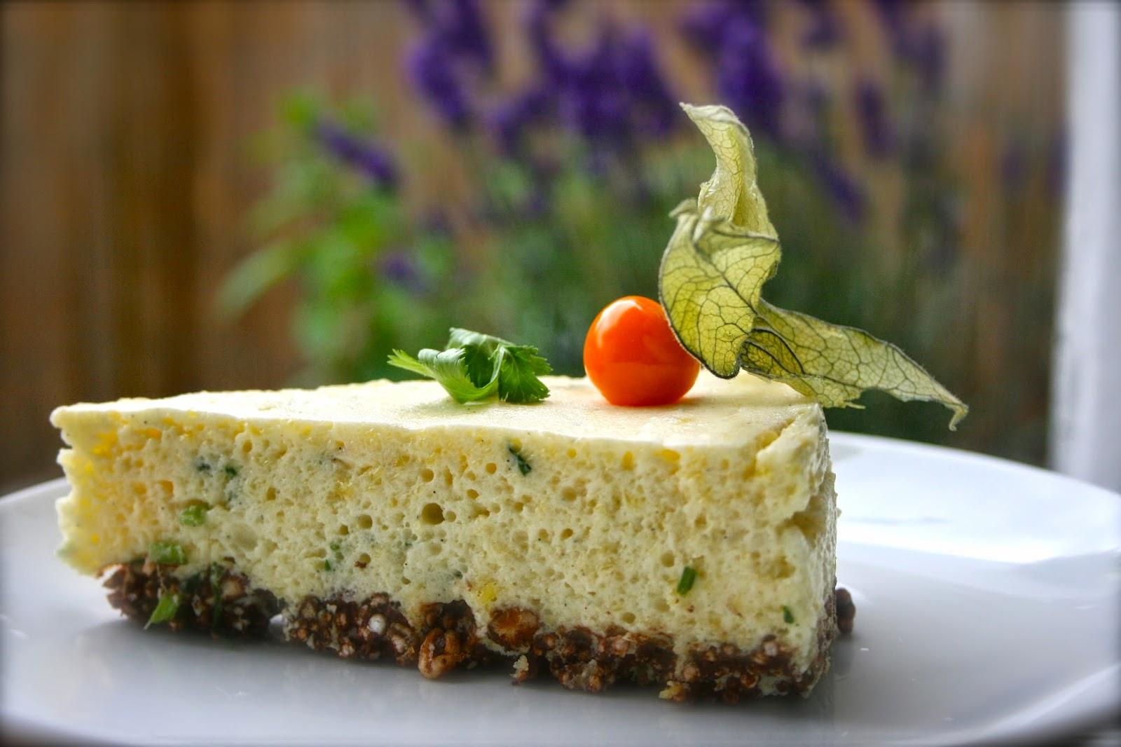 Gaumenspiel Rezepte Quinoa Mangomousse Torte Mit Koriander
