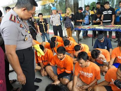 Operasi Sikat 2018, Polresta Bandarlampung Amankan 32 Tersangka