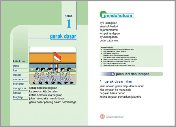Buku PJOK SD MI Kurikulum 2013 Kelas 1