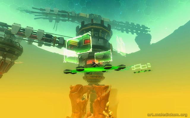 Wildstar: На летающей платформе вокруг сломанного терраморфера