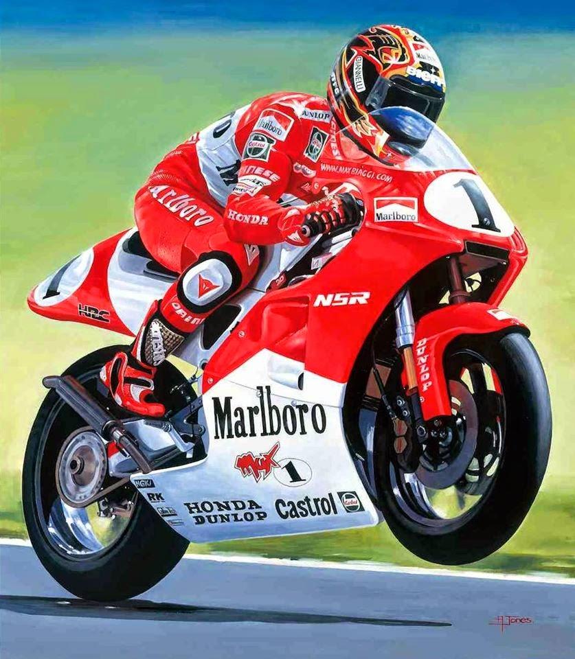 Racing Cafè: Motorcycle Art  Alan Jones #2
