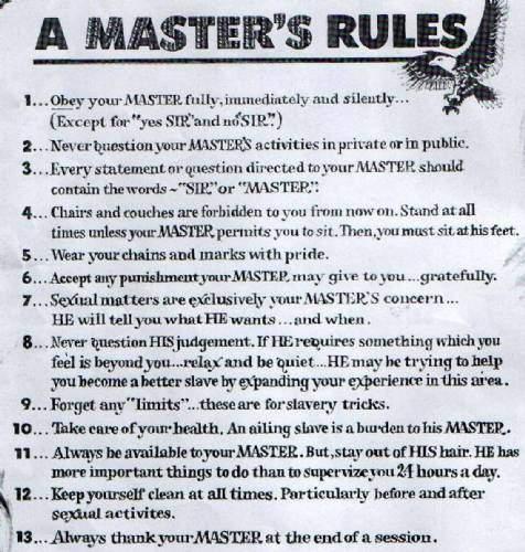 Gay Slave Rules 112