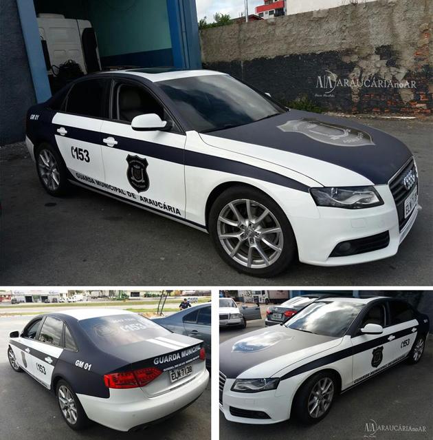 Guarda Municipal recebe Audi A4 Turbo e Volvo X-60 para patrulhas em Araucária (PR)