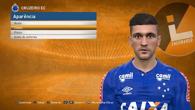 PES 2017 De Arrascaeta (Cruzeiro) Face by Lucas Facemaker