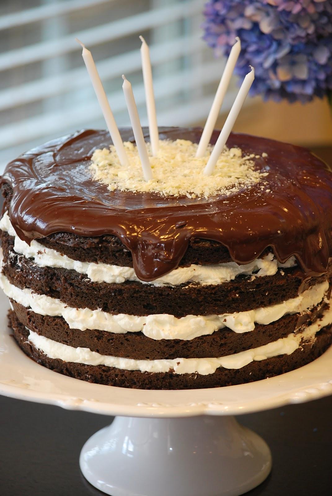 My Story In Recipes Dark Chocolate Birthday Cake