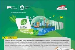 Astra Green Energy Student Innovation SMA Sederajat & Mahasiswa 2018