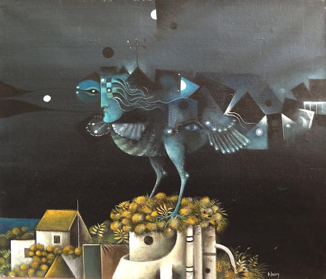 Eduard Alcoy cuadro surrealista pájaro