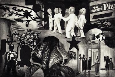 Marcel van Eeden Untitled, 2011 negropencil on paper, 19 x 28 cm