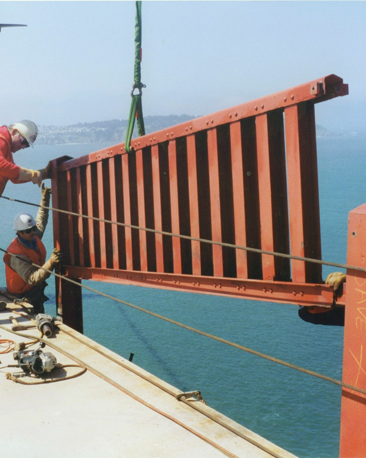 Golden Gate Bridge Handrail Removal
