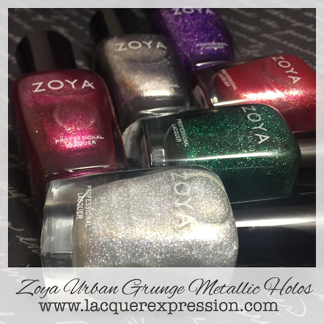 Urban Grunge Metallic Holos nail polish collection by Zoya