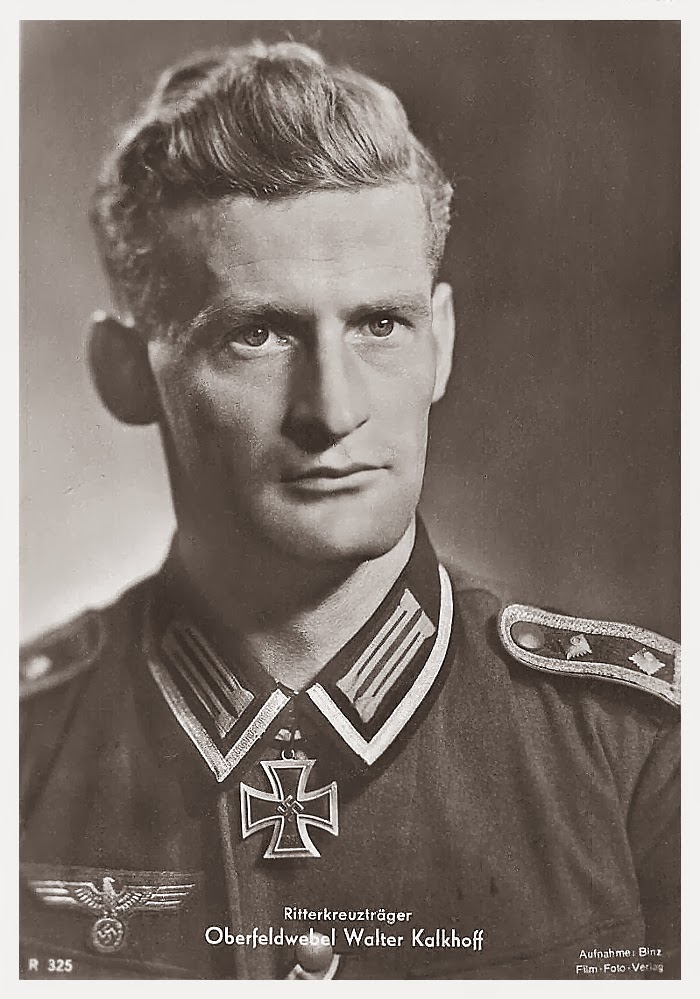 Walter Kalkhoff Ritterkreuzträger Knight Cross Holder Postcard