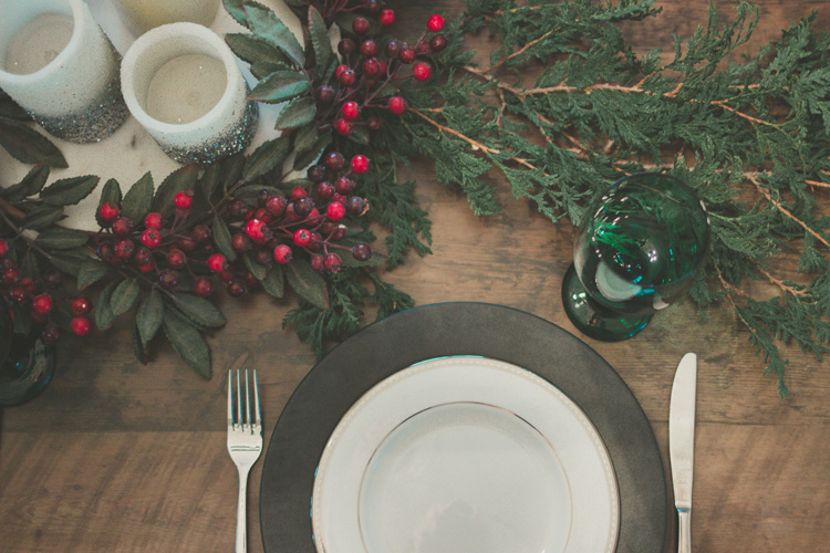 holiday table setting give back to your community