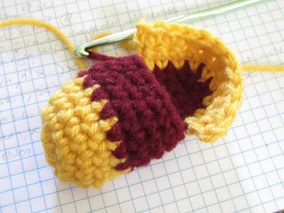 baby booties, FSU team colors, crochet