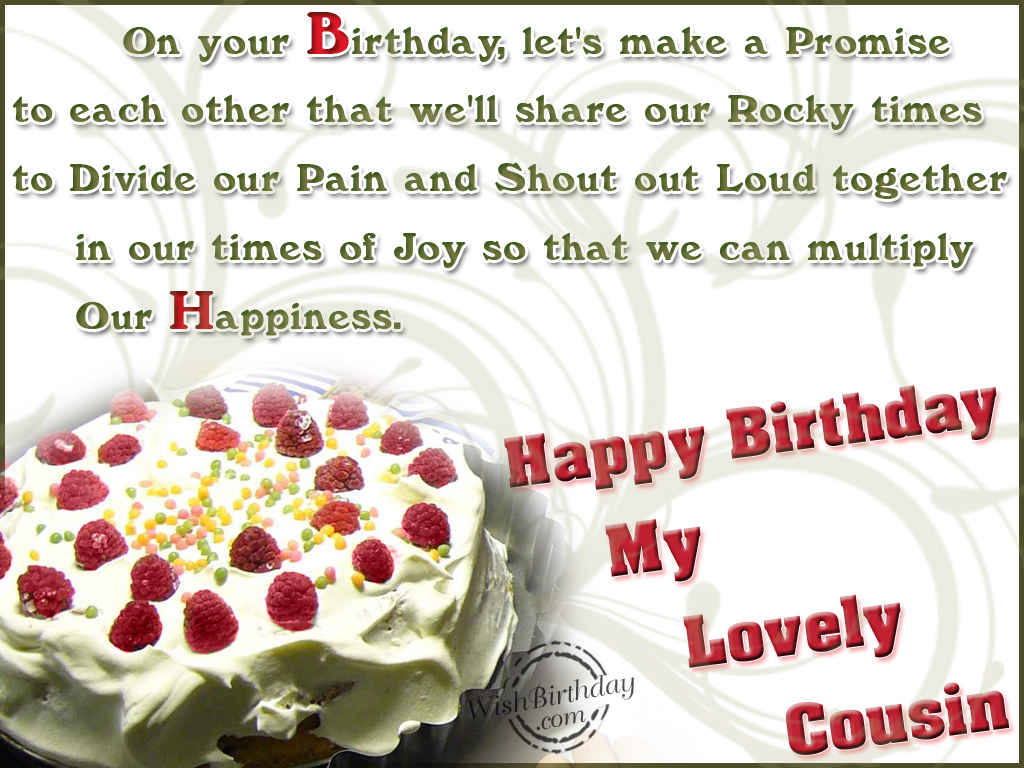 Top Images of Happy Birthday Wishes for Cousin Sister and Brother – Birthday Greetings for Cousins