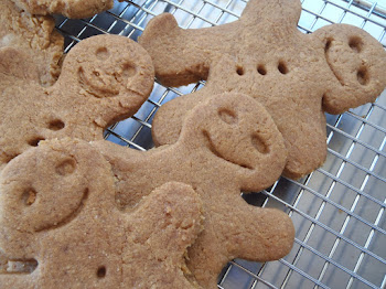 Gingerbread guys pulling weird faces