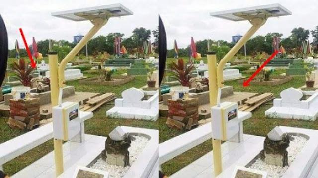 Heboh! Kuburan Dipasangi MP3 Tenaga Surya