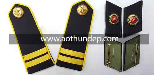 cầu vai  đồng phục bảo vệ một - hai - ba vạch