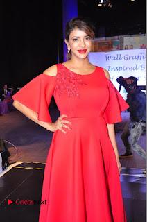 Actress Manchu Lakshmi Pictures in Red Long Dress  0092