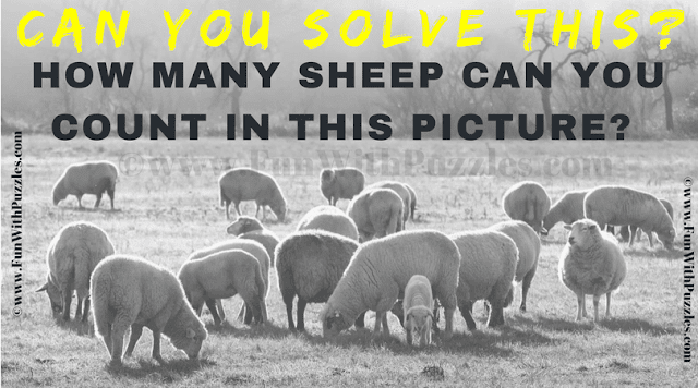 It is very interesting and simple visual puzzle in which your challenge is count the number sheep in the given puzzle picture