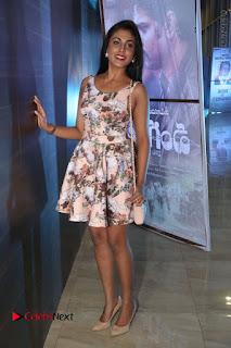 Actress Madhu Shalini Stills in Floral Short Dress at RGV Shiva to Vangaveeti Event  0177.JPG
