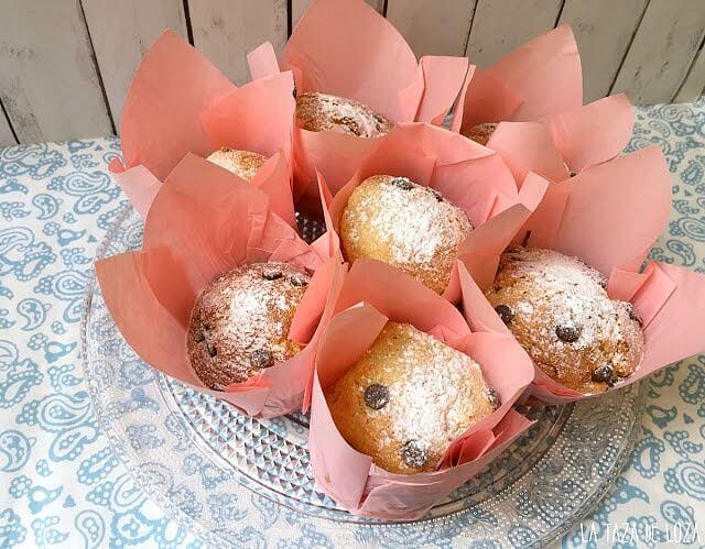 Muffins con pepitas de chocolate. La Taza de Loza